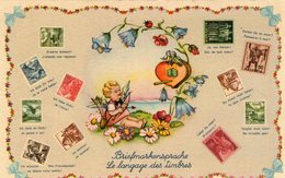 (30) CPA  Langage Des Timbres  (bon Etat) - Timbres (représentations)