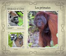 GUINEA 2017 - Monkeys, Gorilla S/S. Official Issue
