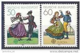 1981 ALLEMAGNE FEDERALE 928-29** Europa, Folklore, Danses