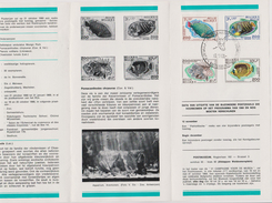 Feuillet Poste FDC 1470 à 1473 Zoo D'Anvers Poissons Solidariteit