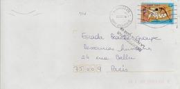 Timbre Seul Sur Lettre N°3341 Jeux Olympiques De Sydney (oblitération Du 03/12/2003) Avec Griffe De Reexpedition - Marcophilie (Lettres)