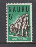 Nauru 1965 ANZAC - Anniversary Of Gallipoli Landing MUH