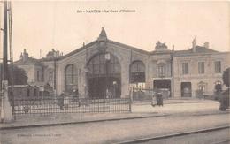 NANTES  -  La Gare D'Orléans,animée (edts Heliotypie Armoricaine ) - Nantes