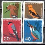 Bund 1963 Mi. 401-404 ** Einheimische Vögel Postfrisch (br1256)