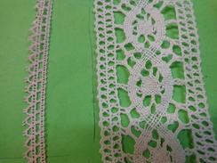 Lot De Dentelles De Gche A Dte: Long 8,10 X 0,9 Cm ---2,10 M X 4,7cm - Laces & Cloth