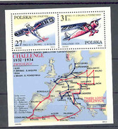 Pologne  Poland Polen Polska  BF**  N° YT 95 Aviation Challenge Carte  Coupe Europe