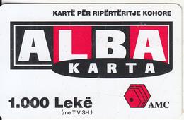ALBANIA - ALBA Karta, AMC Prepaid Card 1000 Leke, Exp.date 23/08/03, Used - Albania