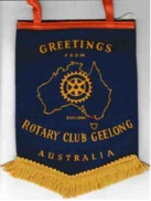 Banner / Bannière  Of GEELONG. AUSTRALIA.of Rotary International - Organizations