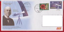 NICOLAE COCULESCU THE ASTRONOMIC OBSERVER DIRECTOR BUCURESTI TELESCOPE LUNETTE  ROMANIA POSTAL STATIONERY
