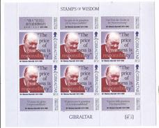 1998 Gibraltar Churchill Famous Quotations Miniature Sheet Of 6  MNH