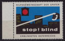 Traffic Lights Semafor / Blind People HELP Charity Stamp AUSTRIA - LABEL / CINDERELLA / VIGNETTE - MNH