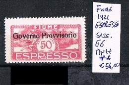 Fiume Espresso Overprint Mnh ** 1920 - Fiume
