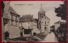 CPA Périgord - Bourdeilles - L'Eglise - Homme En Charrette - Altri Comuni