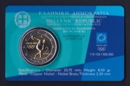 """2004 GRECIA """"OLIMPIADI DI ATENE"""" 2 EURO COMMEMORATIVO FDC (COINCARD) - Grecia"""