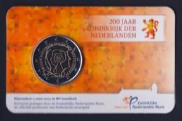 """2013 OLANDA """"200 ANNI REGNO DI OLANDA"""" 2 EURO COMMEMORATIVO FDC (COINCARD) - Paesi Bassi"""