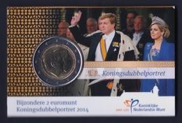 """2014 OLANDA """"DOPPIO RITRATTO"""" 2 EURO COMMEMORATIVO UNC (COINCARD) - Paesi Bassi"""