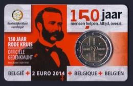 "2014 BELGIO ""CROCE ROSSA BELGA"" 2 EURO COMMEMORATIVO FDC (COINCARD V1) - Belgio"