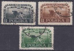 Poland 1948 Bicycle Racing Mi#487-489 Used - 1944-.... Republik