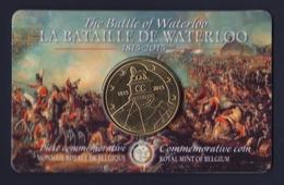 """2015 BELGIO """"200 ANNI BATTAGLIA DI WATERLOO"""" 2,5 EURO FDC (COINCARD) - Belgio"""