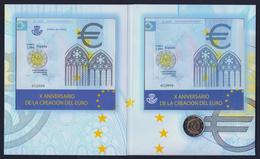 """2009 SPAGNA """"EMISSIONE COMUNE"""" 2 EURO COMMEMORATIVO FDC (FOLDER) - Spagna"""