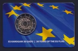 """2015 LETTONIA """"EMISSIONE COMUNE"""" 2 EURO COMMEMORATIVO FDC (COINCARD) - Lettonia"""