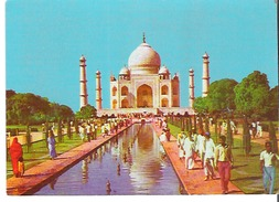 Taj Mahal Agra, India Built In Pure White Marble By Emperor Shah Jahan - India