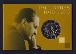 "2016 ESTONIA ""PAUL KERES""  2 EURO COMMEMORATIVO FDC (COINCARD) - Estonia"