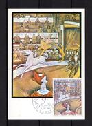 """FRANCE 1969 : Carte Maximum """" LE CIRQUE De SEURAT """". N° YT 1588A. Parfait état. CM"""