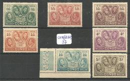 CON(COL.BEL.) COB 185 à 191 X - Belgisch-Kongo