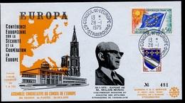 Europa KSZE 1975 France N° 1 - Exposé De Milos Minic FDC2 - Conseil De L'Europe - European Ideas