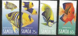 2004 Samoa Fish Poissons   Complete Set Of 4 MNH