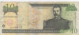 République Dominicaine - Billet De 10 Pesos - M.R. Mella - 2001 - Repubblica Dominicana