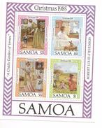 1985 Samoa Christmas Literature Ecrivants Stevenson Souvenir Sheet  MNH