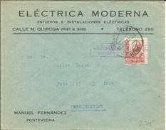 CARTA 1937   CENSURA  PONTEVEDRA - Marcas De Censura Nacional