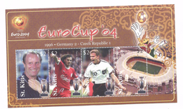 2004 St. Kitts UEFA European Football Championships  Complete Set Of 2 Souvenir Sheets  MNH