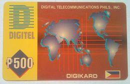 Philippines Phonecard 500 Pesos World Map