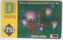 Philippines Phonecard 250 Pesos World Map