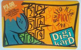 Philippines Phonecard Digikard 100 Pesos Phone Receiver Orange