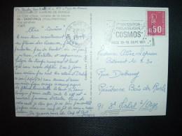 CP TP MARIANNE DE BEQUET 0,50 OBL.MEC.12-9-1971 NICE RP (06) 1ère EXPOSITION PHILATELIQUE COSMOS NICE 18-19 SEPT 1971