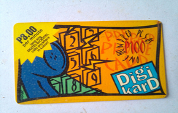 Philippines Phonecard Digikard 100 Pesos Phone Receiver Yellow