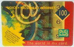 Philippines Phonecard Digikard 100 Pesos Keypad Yellow
