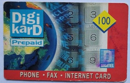 Philippines Phonecard Digikard 100 Pesos Blue