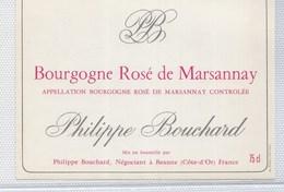 étiquette Vin Bourgogne 2 MARSANNAY ROSE BOUCHARD - Bourgogne