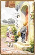[DC10144] CPA - BAMBINI - ILLUSTRATORE FEIERTAG KARL  - Viaggiata 1914 - Old Postcard - Feiertag, Karl