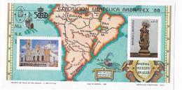 ARGENTINA - ARBRAFEX 88 ESPOSIZIONE FILATELICA - FOGLIETTO NUOVO NH** - Blocchi & Foglietti