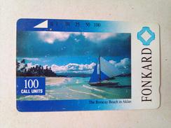 Philippines Phonecard PLDT Tamura Boracay Beach Used