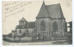 2791 - Humbécourt L'Eglise Cimetière Eglise 1917 WW1 Aux Armées Censure Militaire Eglise - Andere Gemeenten