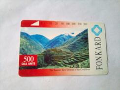 Philippines Phonecard PLDT Tamura 500 Units Rice Terraces