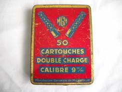 ANCIENNE BOITE DE CARTOUCHES CARABINE 9mm FLOBERT (grenailles) - Decorative Weapons