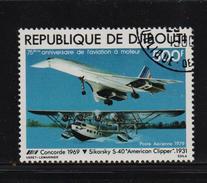 Djibouti 1979, Airplane, Concorde, Minr 250, Vfu. Cv 5,50 Euro